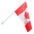 Флаг Канады (шелк, 90х135 см) на древке металлическом 200 см